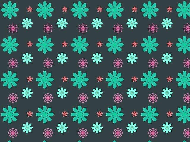 květinová textura